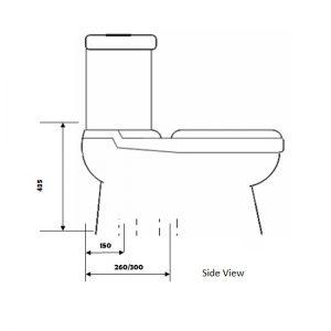 Baron toilet bowl W-203A toilet bowl city singapore 1