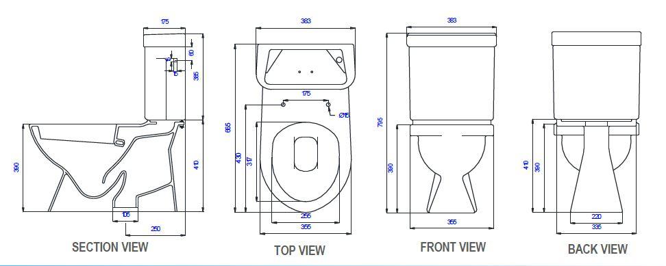 Saniton Camellia ST2488-SC3033IB-3 features toilet bowl city singapore